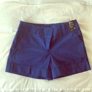 "7th Avenue Studio 4"" Shorts Stretch Size 4 Blue"